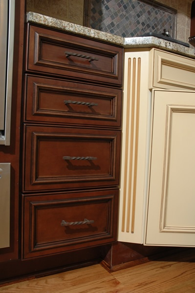 Executive Cabinetry close up of stained painted finish