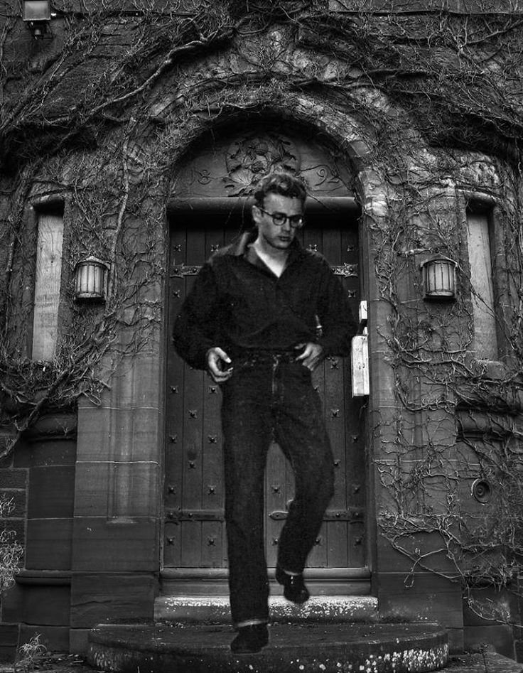 James Dean the Giant leaving a haunted mansion