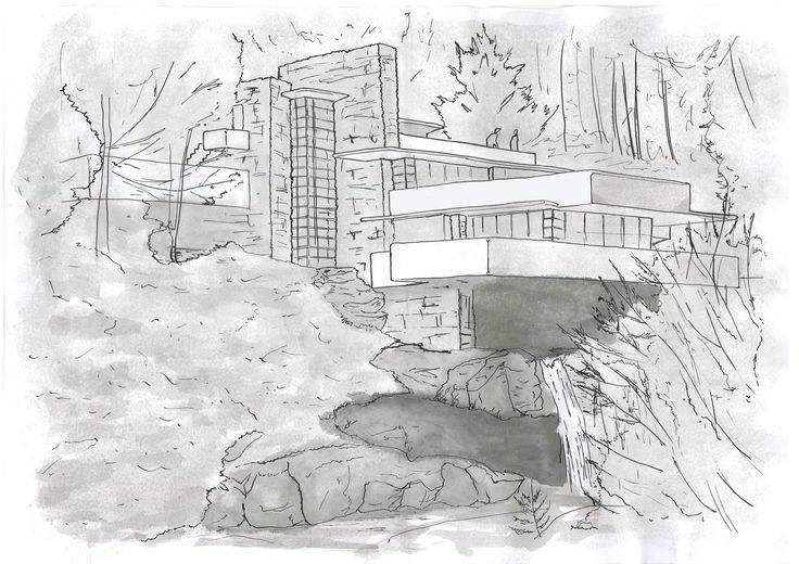 Fallingwater Sketch