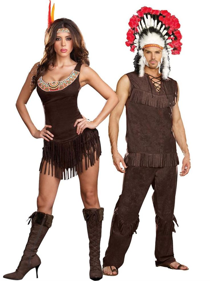Sexy Indian Couples Halloween Costume, Indian Chief - Dreamgirl