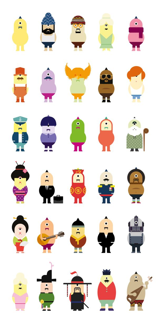 DOKAEBEE : Korean monster identity, character design by Jahng Hyoung joon, via Behance