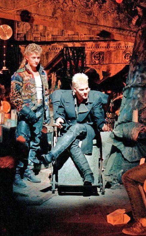The Lost Boys (1987) - Kiefer Sutherland as David, Alex Winter as Marko, directed by Joel Schumacher.