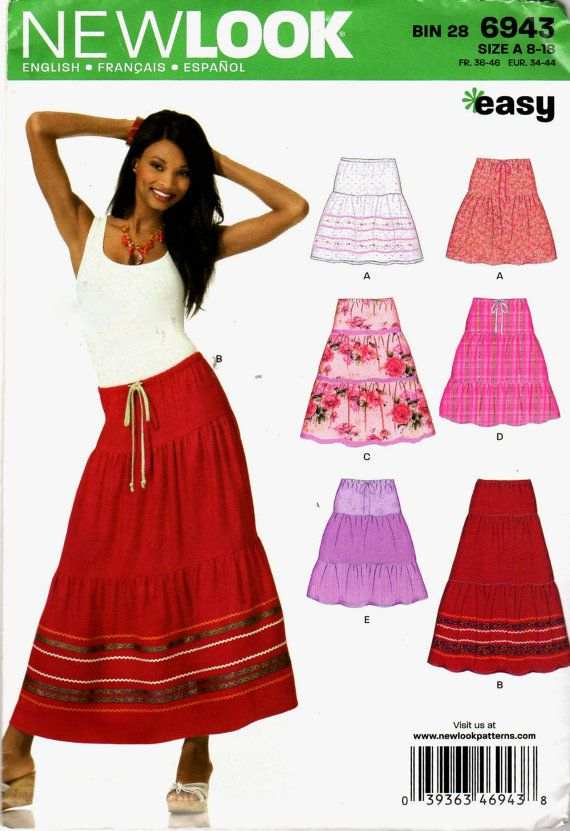 New Look 6943 Easy Sewing Pattern of Misses Boho / by scarlettess
