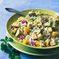 Chicken, Mango, and Rice Salad - Avocado Chicken Mango Salad Recipes - Delish.com