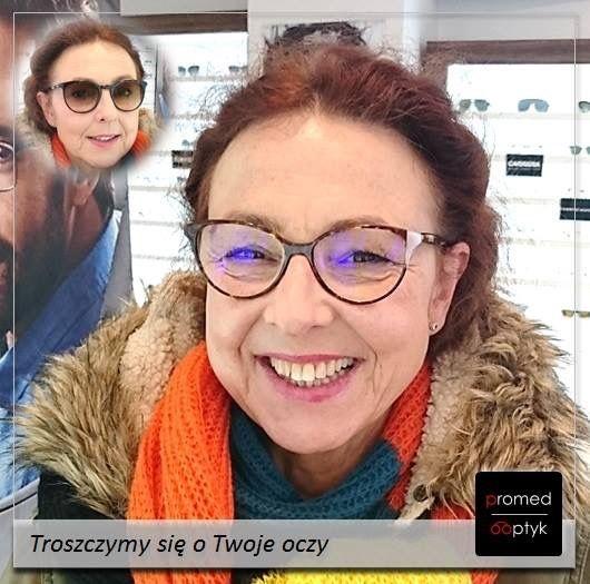 Nasza praca sprawia nam prawdziwą satysfakcję. Na zdjęciu uśmiechnięta Pani Agnieszka - dla nas bezcenne. #optyk #optometrysta #okulista #okulary #uśmiech #radość #nowość #wzrok #oczy