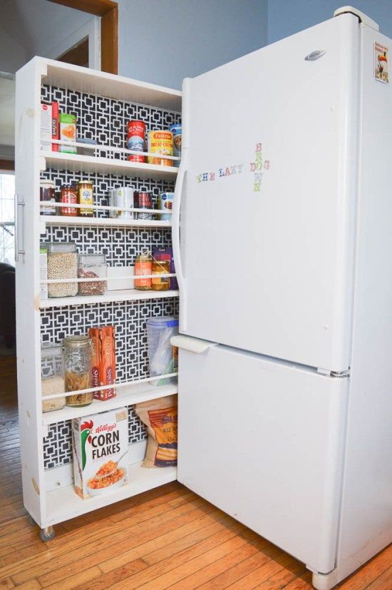 Small Space Storage Solution! An inexpensive rolling pantry. Full TUTORIAL included!