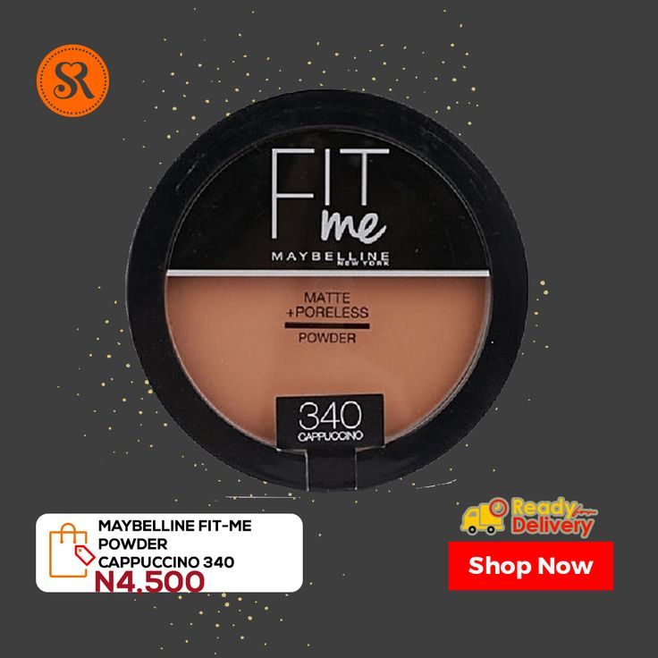 Maybelline fitme powder cappucino 340 in 2020 fit me