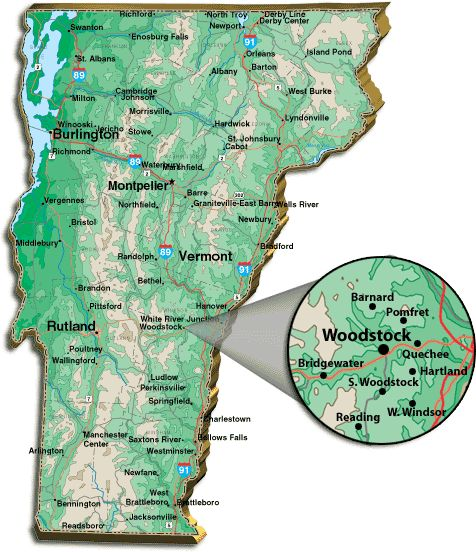 Woodstock, VT. By Bridgewater and white river junction ... way far north of Arlington, but both have great/famous connections to famous family estates and historic covered bridges!
