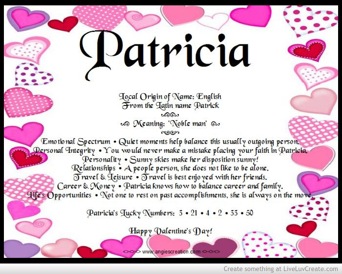 meaning of names - Patricia | Angies Creations | Pinterest ... - photo#7