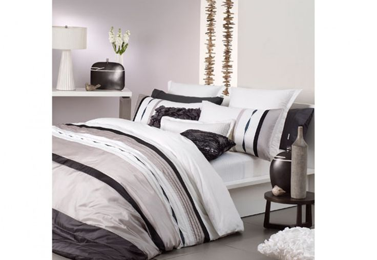 Logan & Mason Mossman Quilt Cover Set - neutral tones make it easy to beautifully theme and accessorise your bedroom | Super A-Mart