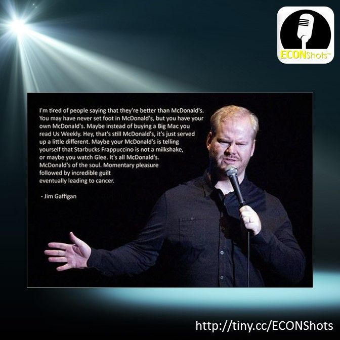 Jim Gaffigan teaches us about inferior goods. #inferiorgoods #ECONShots #teachecon #economics #econed #K12EconEd