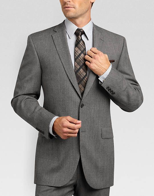 Jack Victor Select Gray Check Slim Fit Suit - Slim Fit (Extra Trim) |  | #Mondo #Uomo #Naples #Fashion