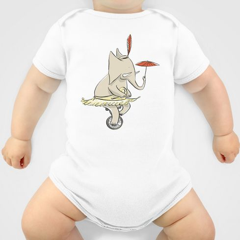 Circus Elephant onesie. Available in multiple colours and sizeis at http://society6.com/inkrobin/Circus-Elephant-VeV_Onesie#28=219
