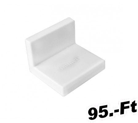 szekrény függesztő  Bútorakasztó L vasalat SAMET Színe: Fehér