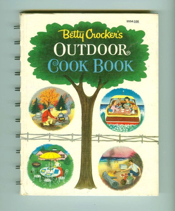Betty Crockers Outdoor Cook Book, illustrated by Tom Frank, copyright 1961 by General Mills, Inc., published by Golden Press.  Golden Press