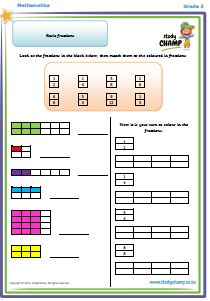Worksheets - Grade 3 - Numeracy : Basic Fractions