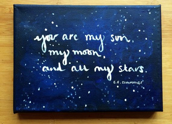 You are my sun my moon and all my stars. by AmandineRoseDesigns