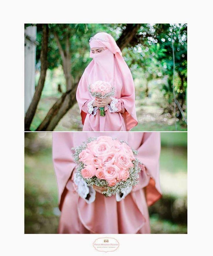 Niqabi Bride in Pale Pink