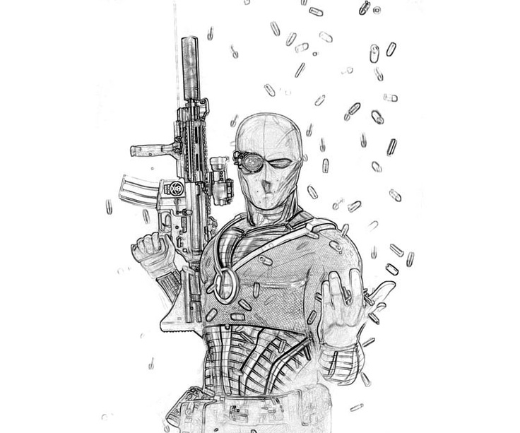 Deadshot Para Colorear: 17 Best Deathstroke And Deadshot Images On Pinterest