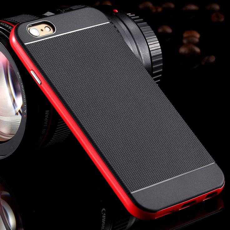 For Apple iPhone6 6s Luxury Armor Back Case for iPhone 6 6s 4.7 Phone Accessories + Logo Hard Hybrid Shockproof Dual Layer Cover - free shipping worldwide