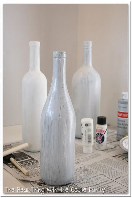 Easy and inexpensive wine bottle craft crafts bottle for Easy wine bottle crafts