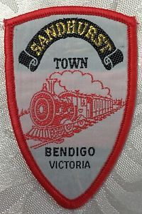 Vintage Souvenir Patch Sandhurst Town Bendigo Victoria Steam Train | eBay