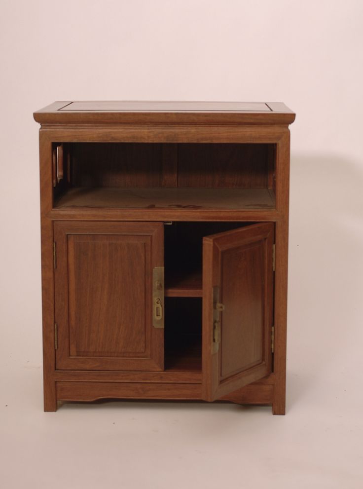 Antique Rosewood Cabinet End Table - Harrington Galleries
