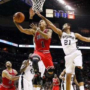 Derrick Rose in Bulls vs Spurs