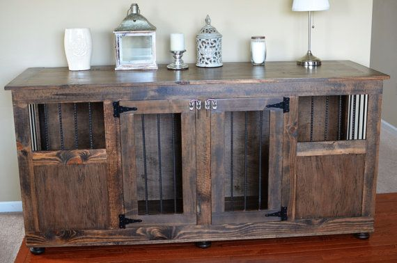 Double dog crate without divider by Shann70098 on Etsy