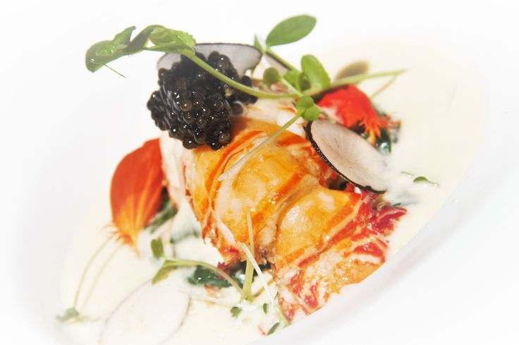 Truffle Lobster with cream spinach and caviar