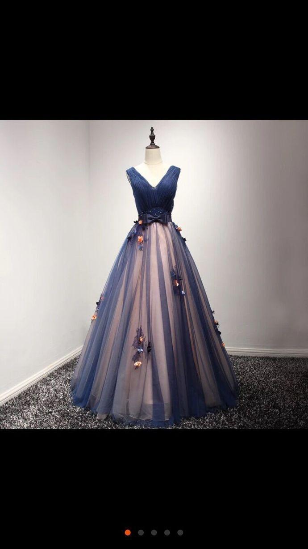 Sexy V-Neck Appliques Prom Dress,Long Prom Dresses,Cheap Prom Dresses, Evening