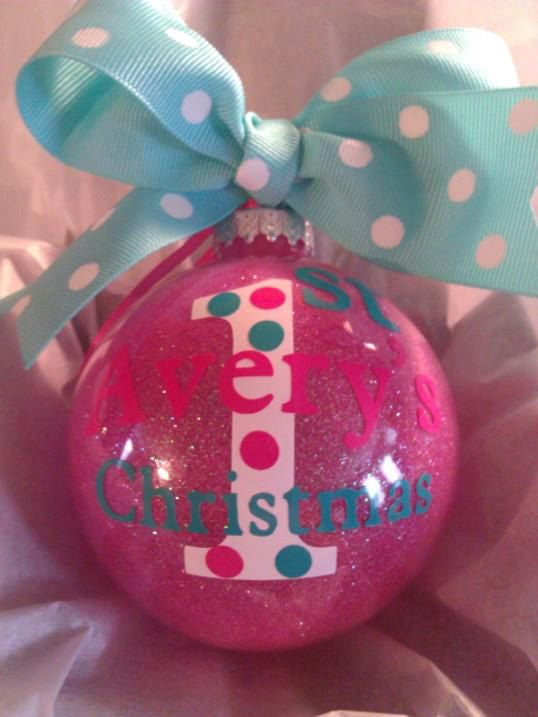 Personalized Baby's 1st Christmas Ornament Custom by all4mygirlz, $14.99