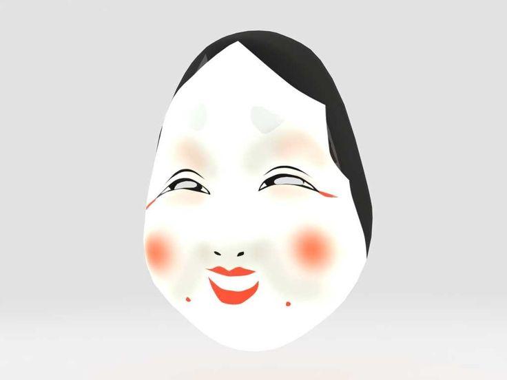 3D Otafuku Mask Model - 3D Model