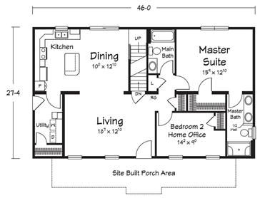 Small Home Plans on 1100 sq ft cabin plans