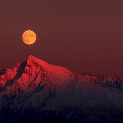 Sunset und Mond - Slovakia Liptov