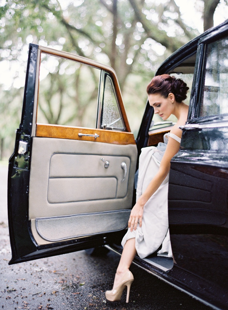 Vintage Car from Absolutely Charleston and Jimmy and Shoes by Jimmy Choo, Easton Events at Fenwick Hall in Charleston, Photography by @jose villa