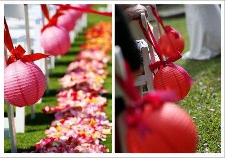 Déco cérémonie mariage avec lanternes