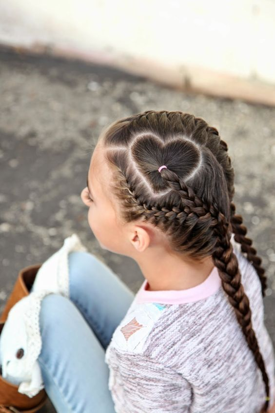 Inspirational and Trendy Heart Braid Looks for Kids – Hairstyles – # Hairstyle Boys