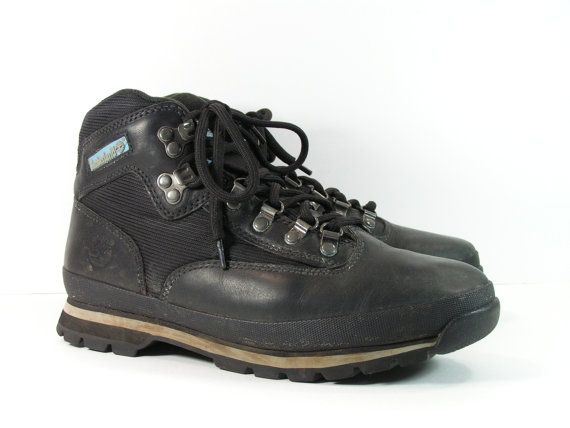 timberland hiking boots womens 10 m b black by cheapgrannyboots