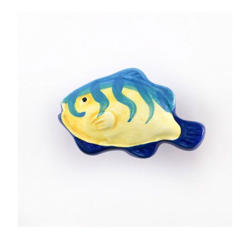 Nifty Nob Vertical Striped Tropical Fish Knob: For Those Looking To Add A  Touch Of The Aquatic, This Fun Yellow And Blue Striped Tropical Fish Knob  Will Do ...