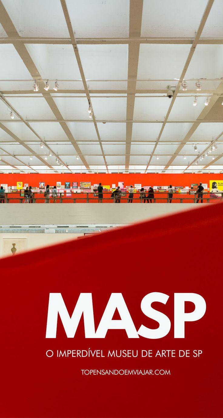 O MASP, ou Museu de Arte de São Paulo é um dos mais importantes museus do mundo. Além de seu acervo, com mais de 10 mil obras, o próprio edifício do MASP, projetado por Lina Bo Bardi, é uma obra de arte, Isso faz da visita ao MASP um programa obrigatório em SP.