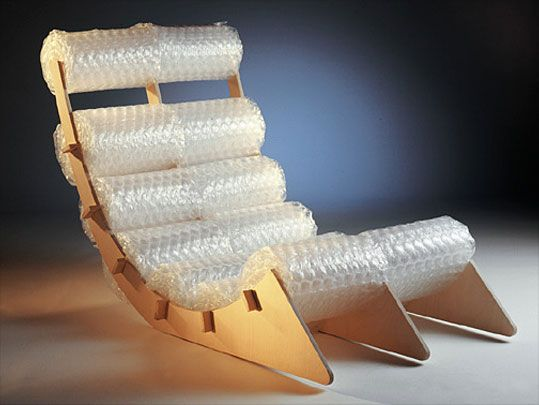 Bubble And Cardboard Chair.