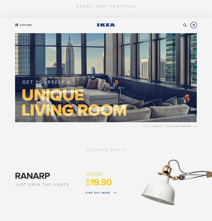 IKEA Redesign - UI & UX Design on Behance
