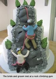 Rock Climbing themed cake
