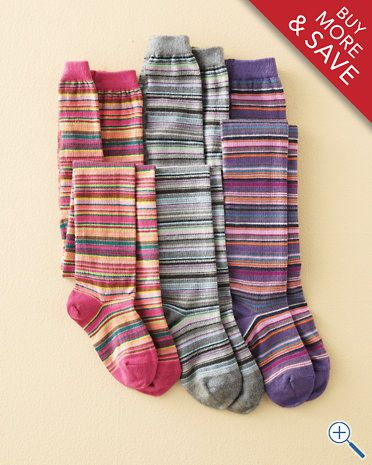 Colorful Cotton Multistripe Tights by MP - Baby Girls & Girls