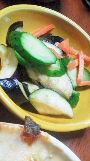 「夏野菜浅漬け」さっぱり浅漬けです。【楽天レシピ】