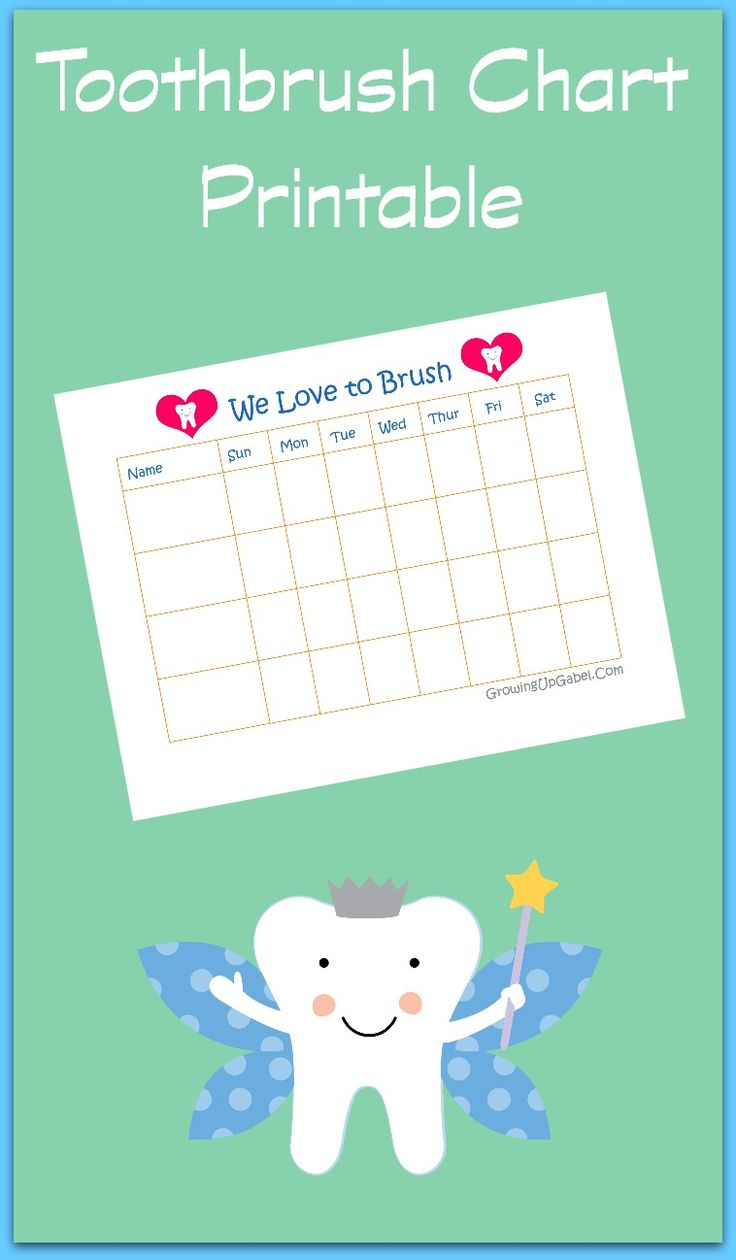 Free Printable Toothbrush Chart from Growing Up Gabel