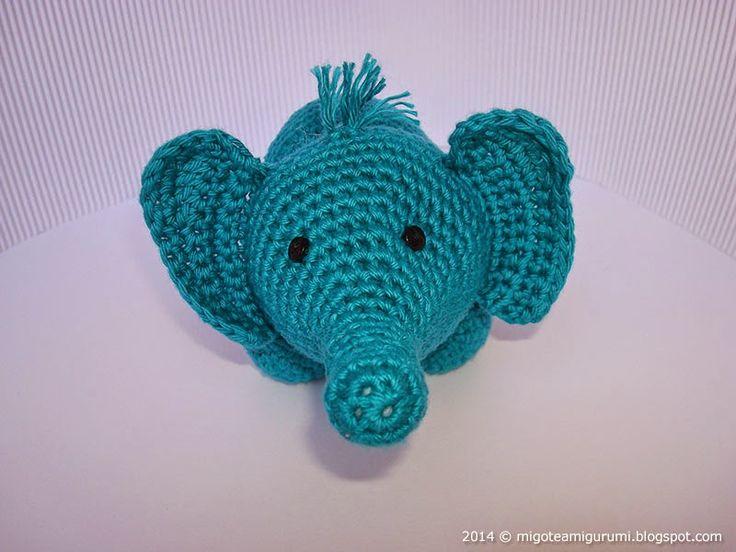 36 best Elefantes crochet images on Pinterest | Crochet animals ...