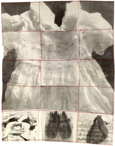 "Maria Luisa Boullosa ~ ""Hurt Dress"" (2011) digital print, transfer print 78 x…"