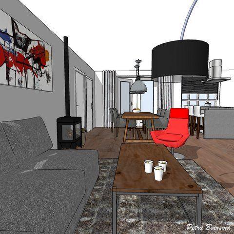 3D Visualisatie woonkamer